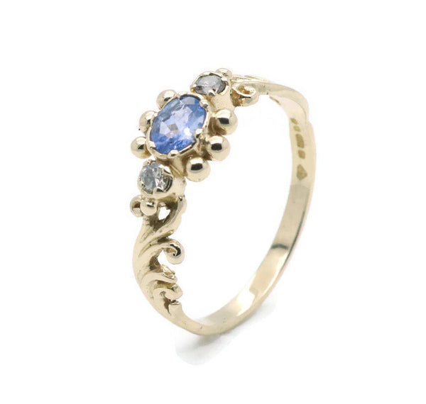 Solitaire Tanzanite Ring 9ct Yellow Gold