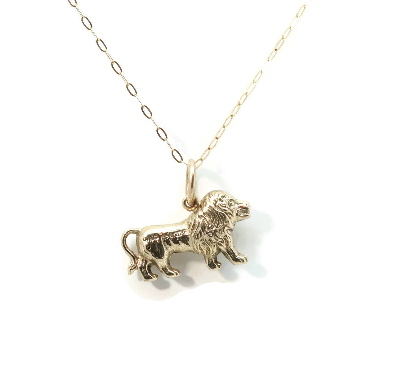 Lion Necklace 9ct Yellow Gold