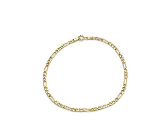 Figaro Chain Bracelet 9ct Yellow Gold