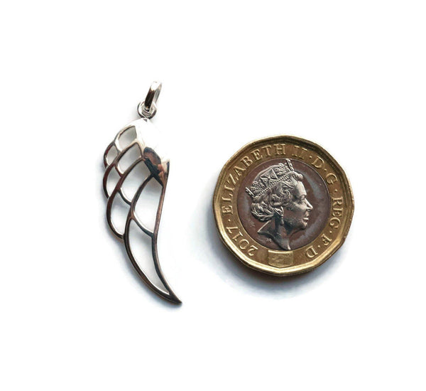 Angel Wing Pendant 925 Sterling Silver