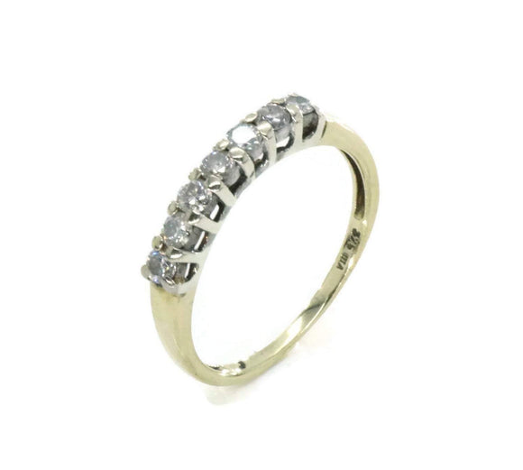 Diamond Half Eternity Band 9ct Yellow Gold