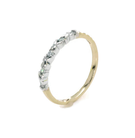 Diamond Engagement Band 9ct Gold