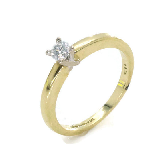 Solitaire Diamond Ring 18ct Yellow Gold