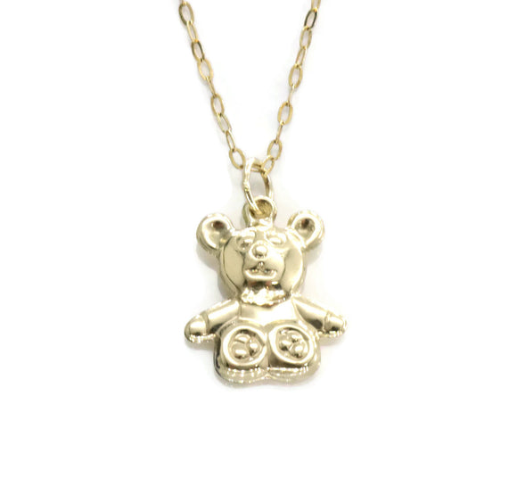 Teddy Bear Necklace 9ct Yellow Gold