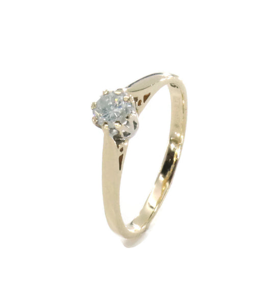 Solitaire Diamond Ring 9ct Yellow Gold