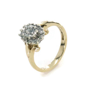 Diamond Halo Ring 9ct Gold