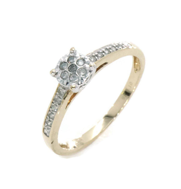 Diamond Engagement Ring 9ct Yellow Gold