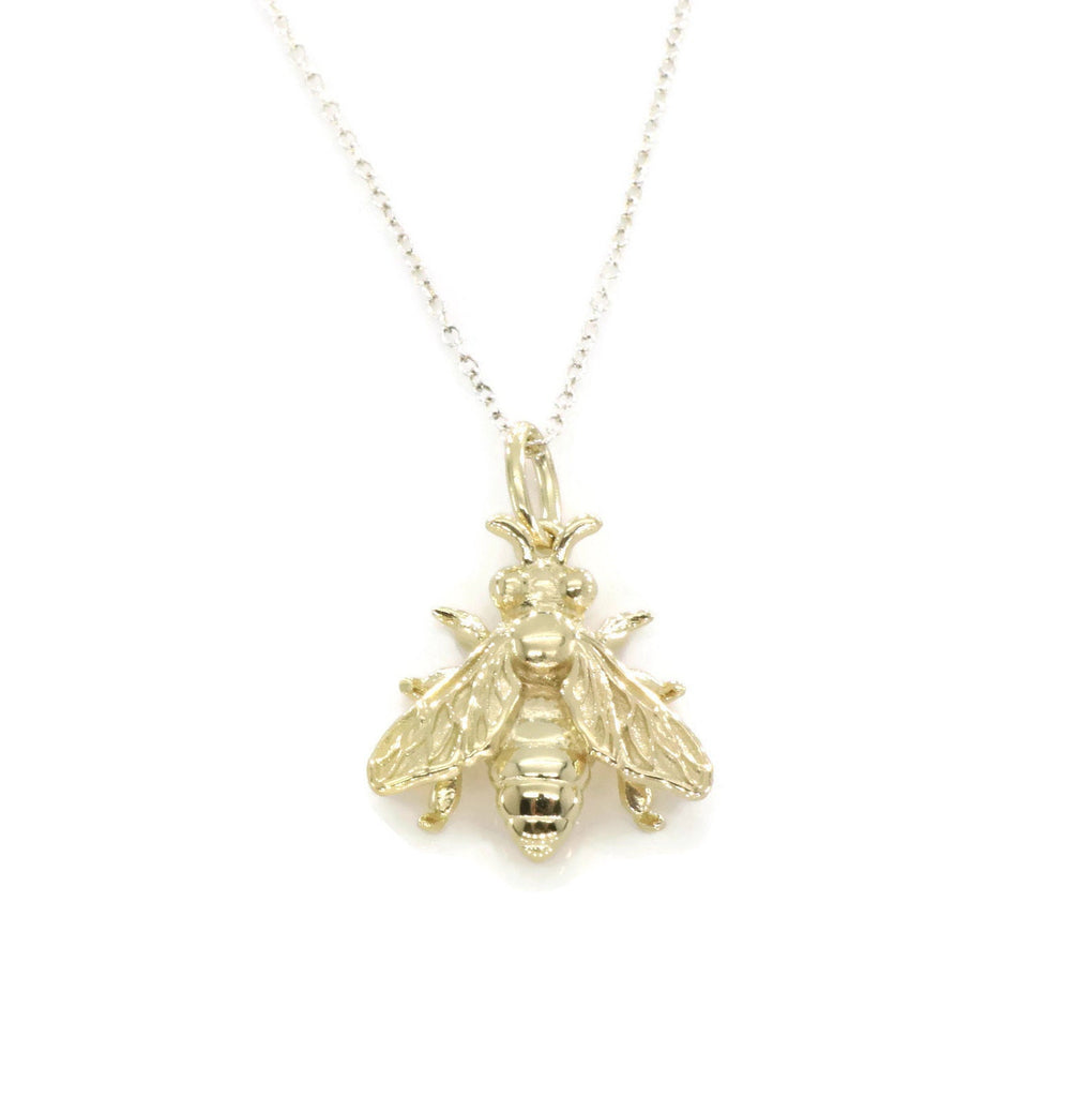 Honey Bee Necklace 9ct Gold Plated Sterling Silver