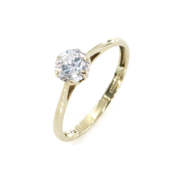 Cubic Zirconia Engagement Ring 9ct Yellow Gold