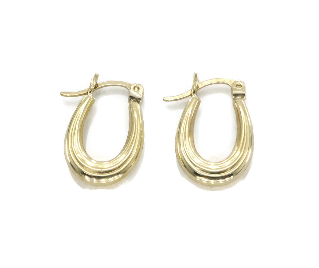 Small Gold Hoop Earring 9ct Yellow Gold