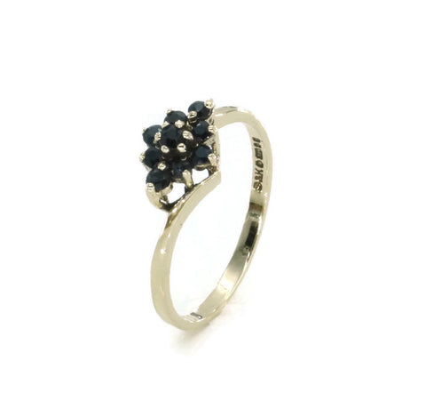 Sapphire Cluster Ring 9ct Yellow Gold