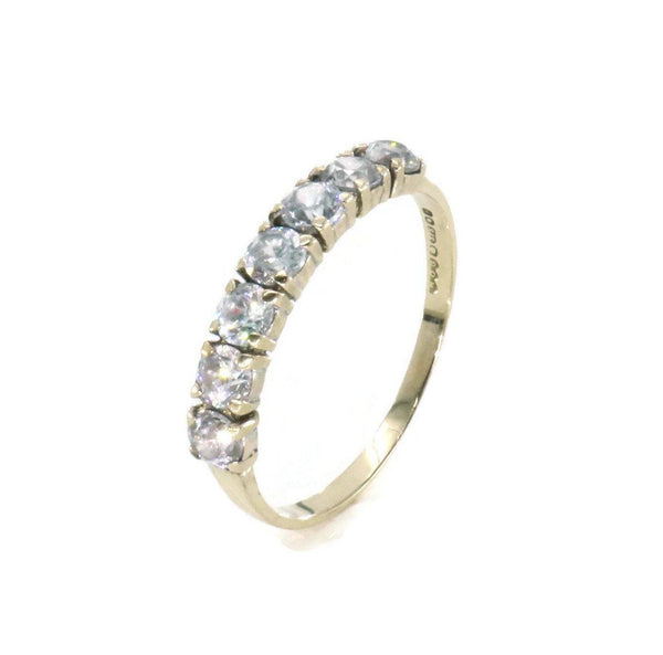Cubic Zirconia Band 9ct Yellow Gold