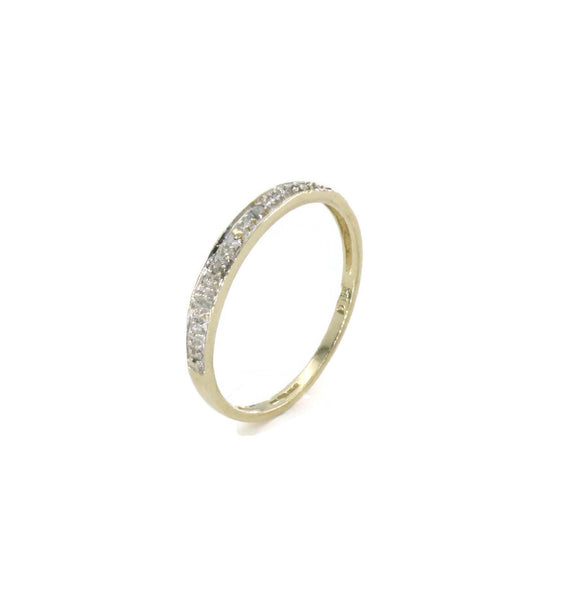 Pave Diamond Band 9ct Yellow Gold