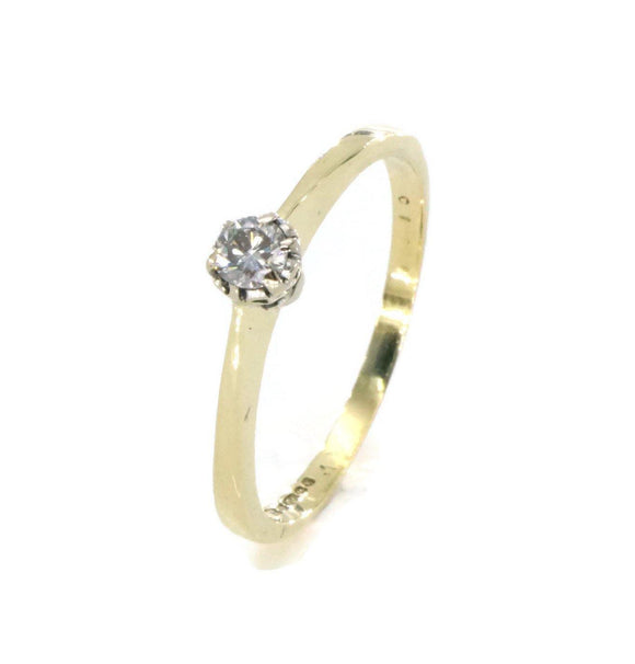 Diamond Engagement Ring 18ct Yellow Gold