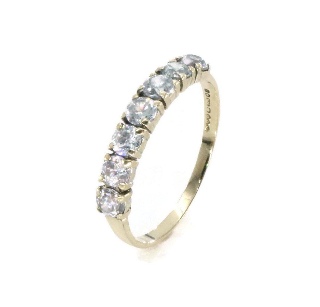 Cubic Zirconia Band 9ct Yellow Gold - Renee Isabella