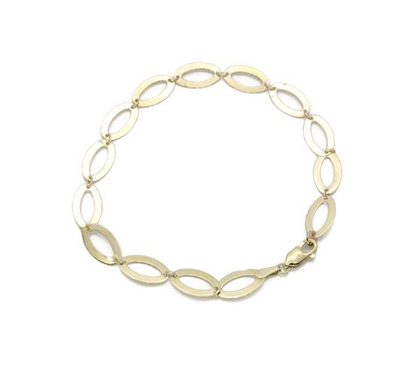 Oval Link Bracelet 9ct Yellow Gold