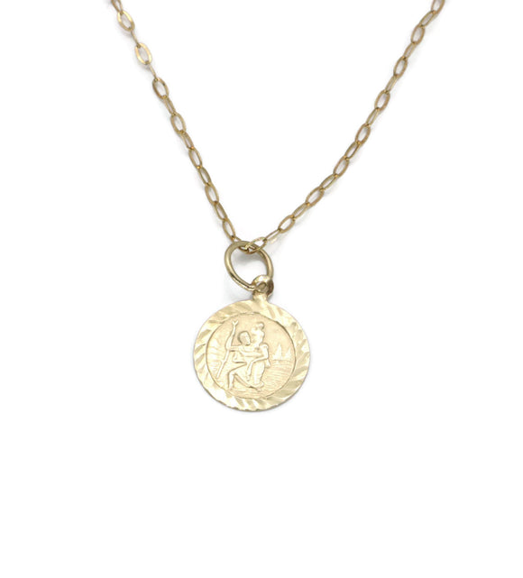 St Christopher Pendant 9ct Yellow Gold