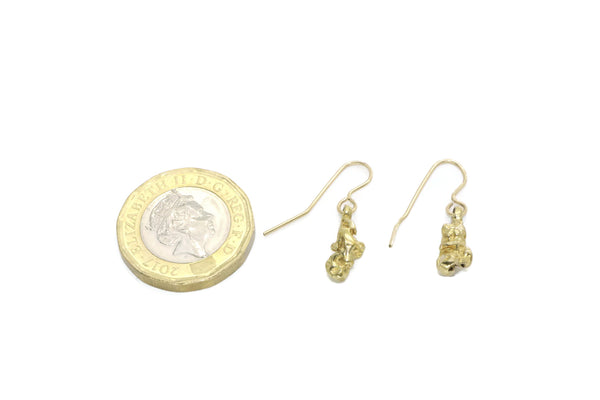 Gold Nugget Earrings 14ct Gold Plated