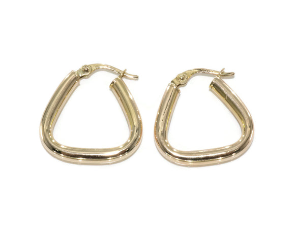 Medium Hoop Earrings 9ct Yellow Gold