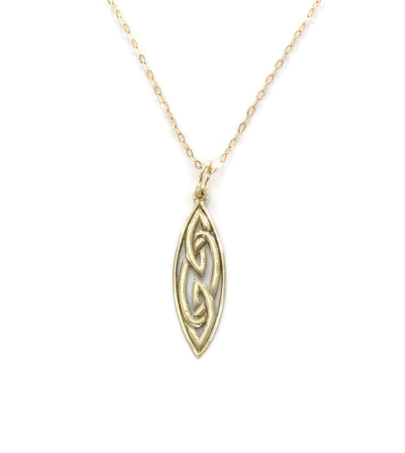 Celtic Knot Necklace 9ct Yellow Gold