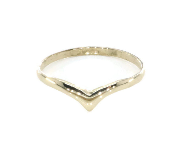 Plain Wishbone Ring 9ct Yellow Gold