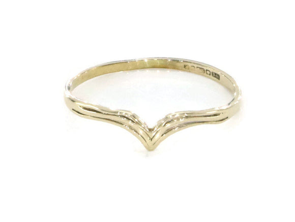 Womens Wishbone, Wishbone Ring, Gold Wishbone Ring, Chevron Ring, Vintage Gold Ring, Simple Gold Ring, Solid Gold Band, V Shaped Ring