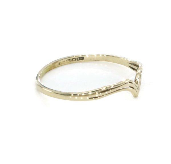 Simple Wishbone Ring 9ct Yellow Gold