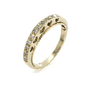 Cubic Zirconia Movable Ring 9ct Gold