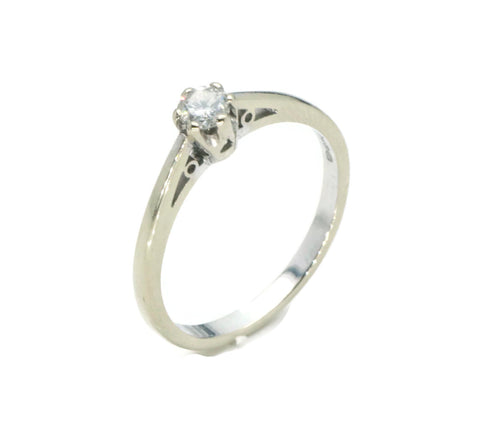 Vintage Diamond Engagement Ring 9ct White Gold