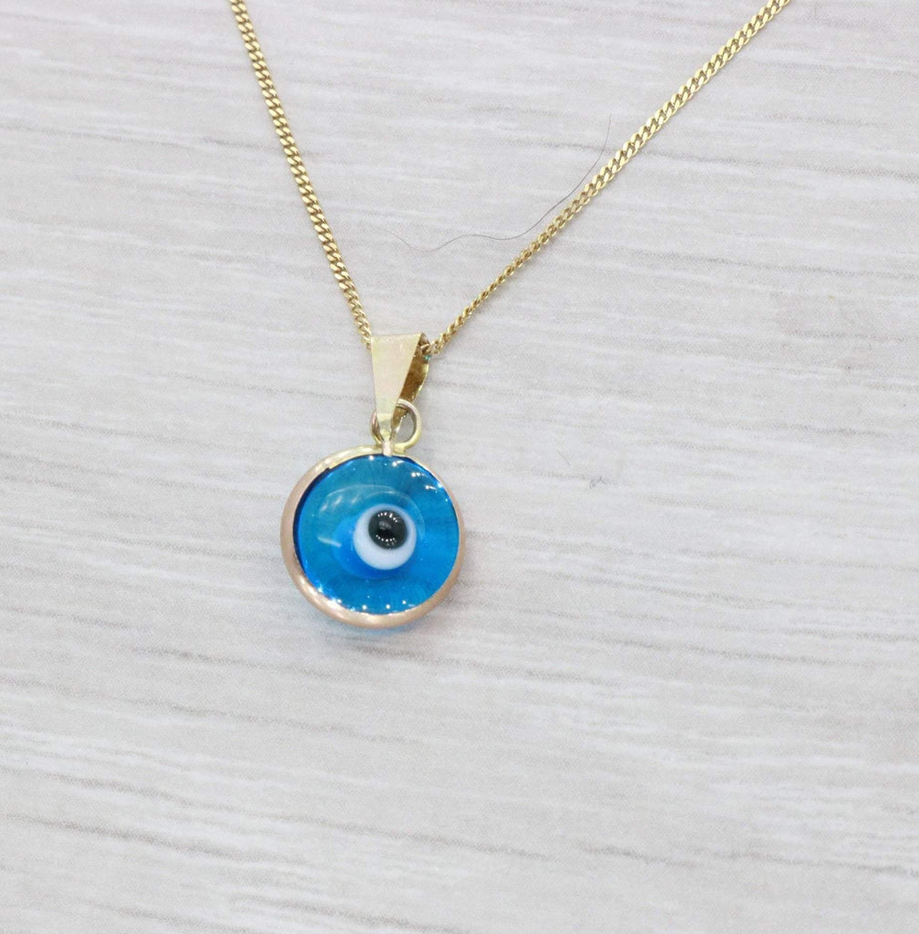 Evil Eye Necklace 9ct Yellow Gold - Renee Isabella