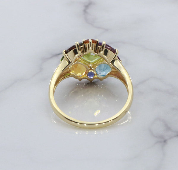 Multi Stone Cocktail Ring 9ct Yellow Gold