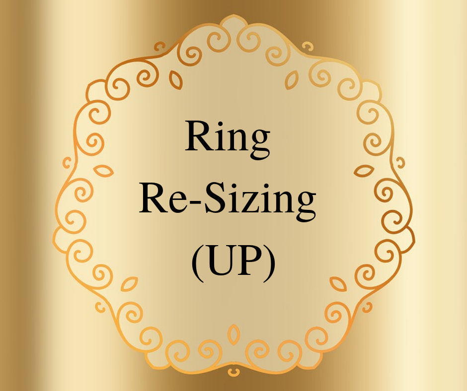 Ring Resizing UP Two (2) Sizes on Rings