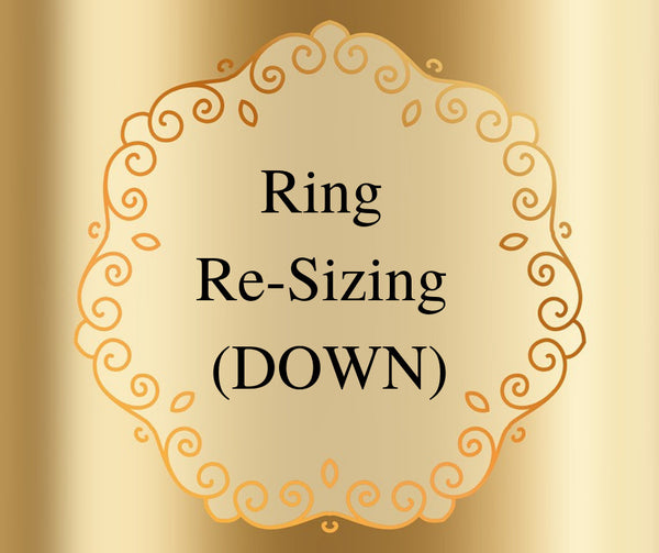 Ring Resizing DOWN Two (2) Sizes on Rings