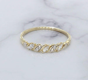 Cubic Zirconia Ring 9ct Yellow Gold