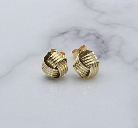 Celtic Knot Stud Earrings 9ct Yellow Gold
