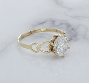 Marquise Cubic Zirconia Ring 9ct Yellow Gold
