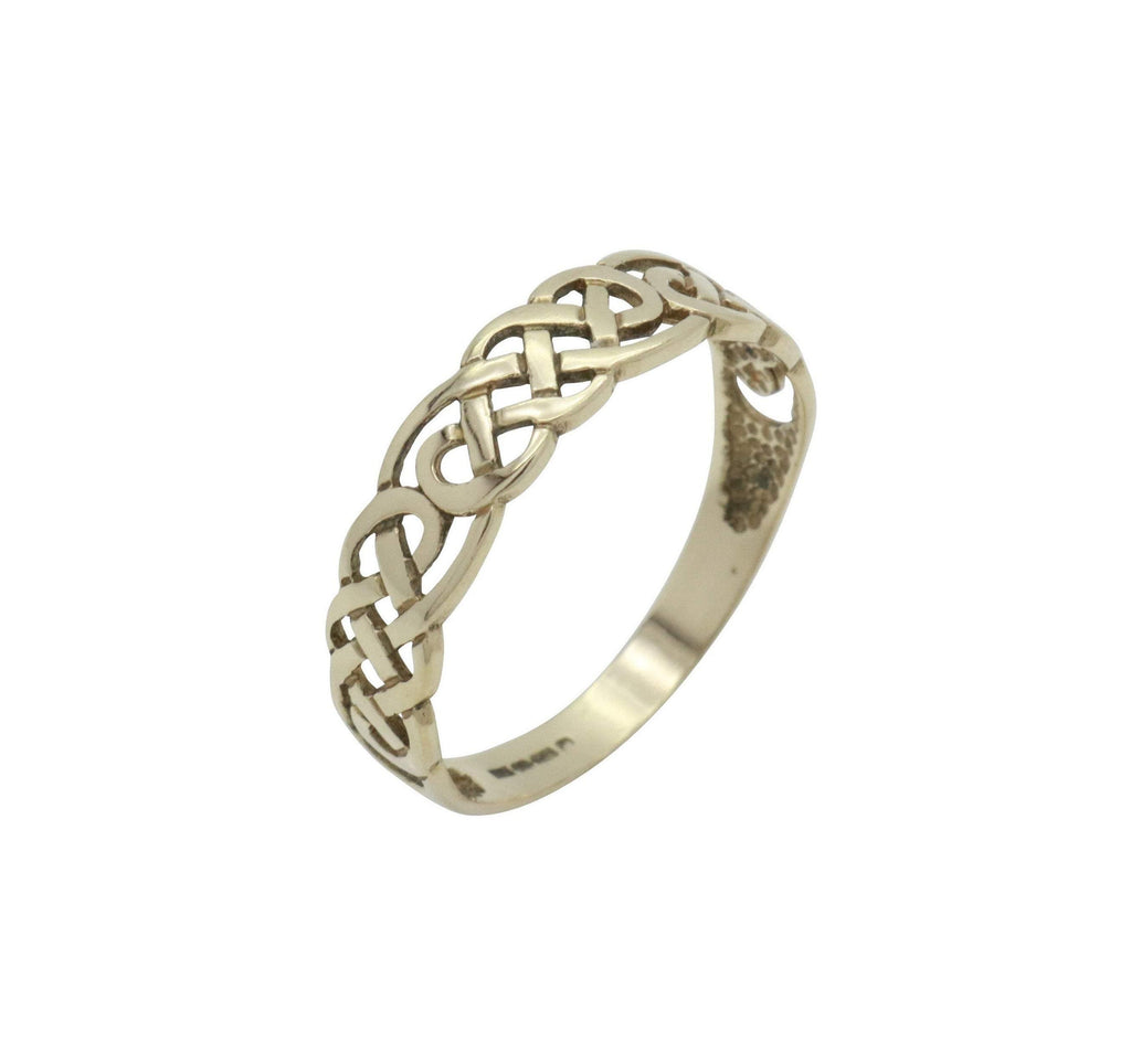 Celtic Knot Band Ring 9ct Yellow Gold - Renee Isabella