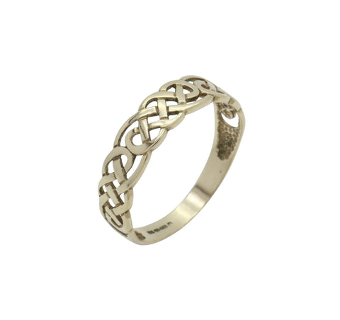 Celtic Knot Band Ring 9ct Yellow Gold