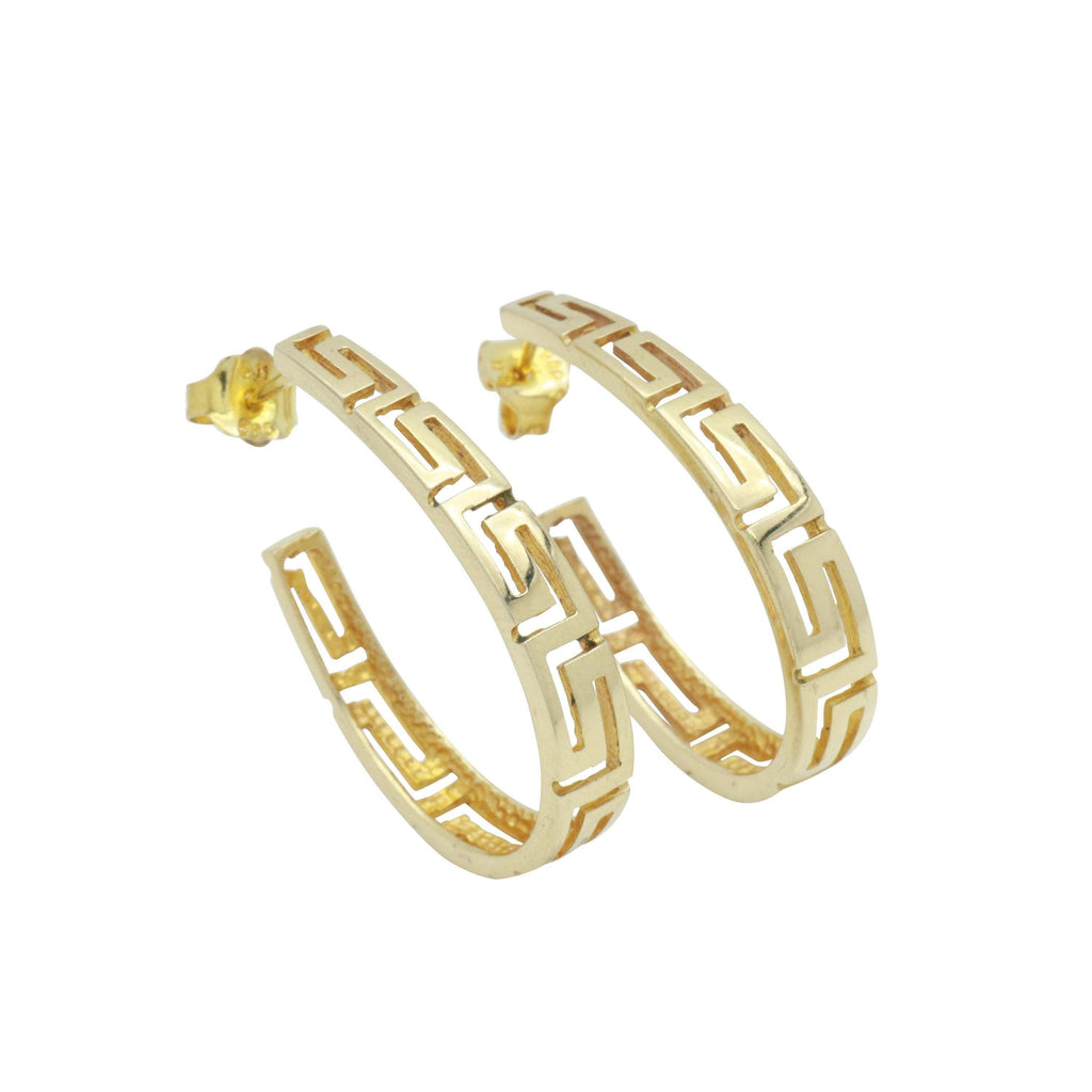 Celtic Hoop Earrings 9ct Yellow Gold