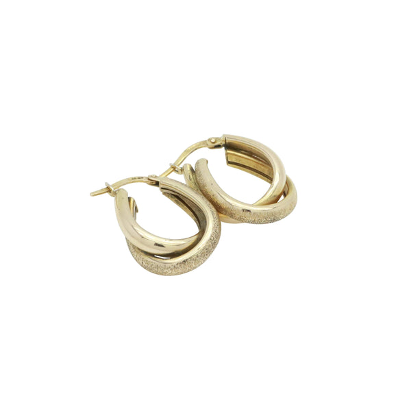 Double Hoop Earrings 9ct Gold