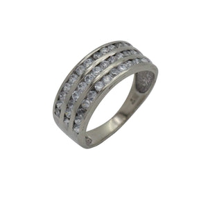 Cubic Zirconia Multi Stone Ring 9ct White Gold