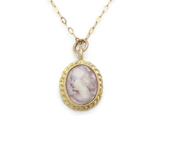 Cameo Pendant Necklace 9ct Yellow Gold