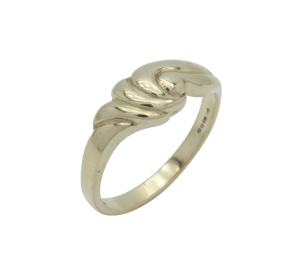 Wave Knot Ring 9ct Yellow Gold