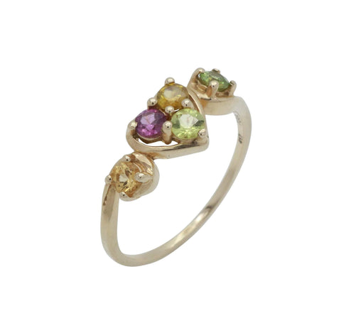 Garnet Kaleidoscope Ring 9ct Yellow Gold