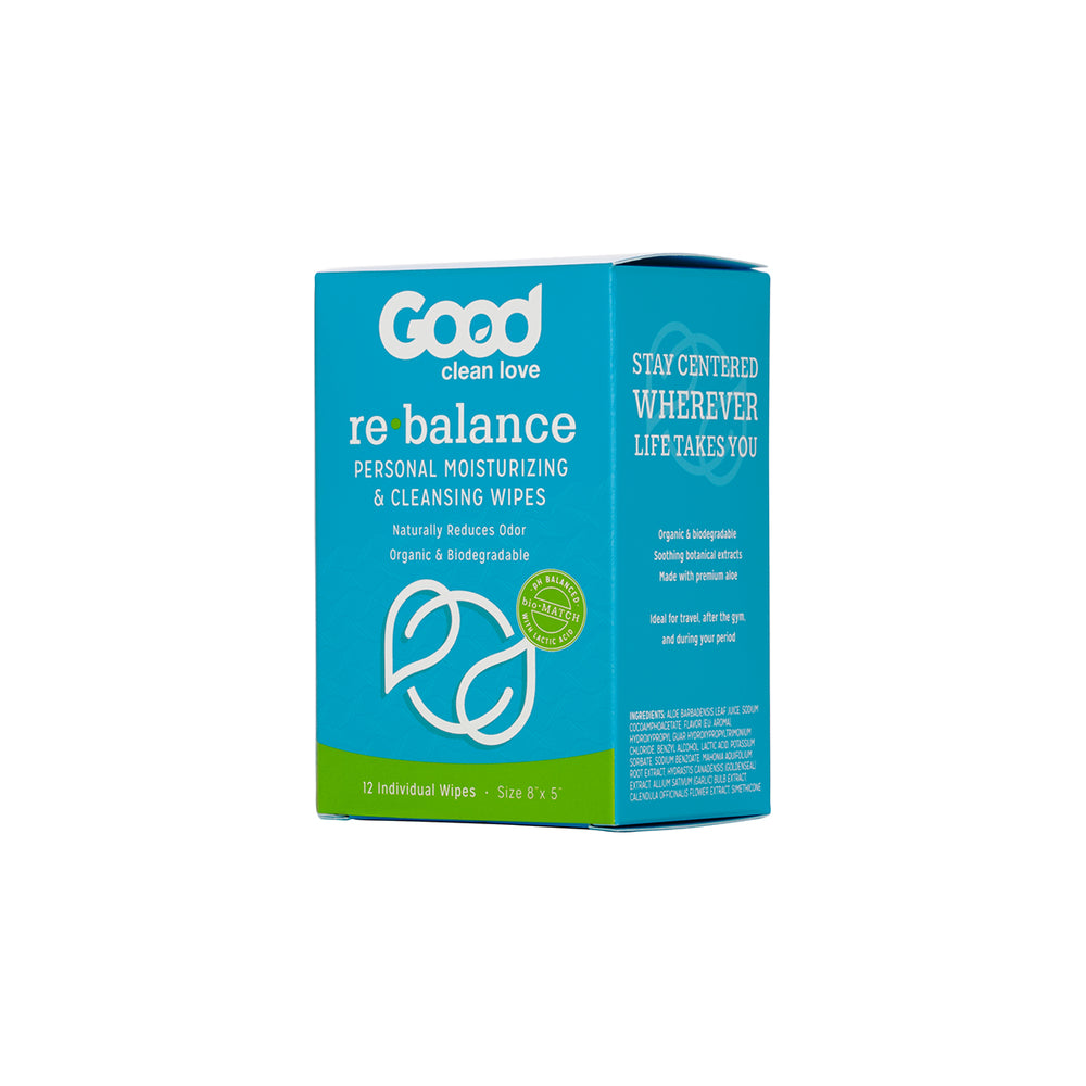 Good Clean Love Rebalance Cleansing Wipes 12 ct.