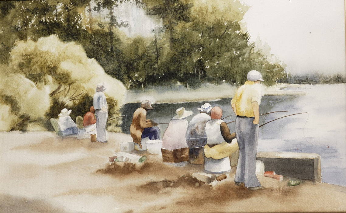 Sara Norton : Community Fishing-Original Watercolor - N3CreativeShop