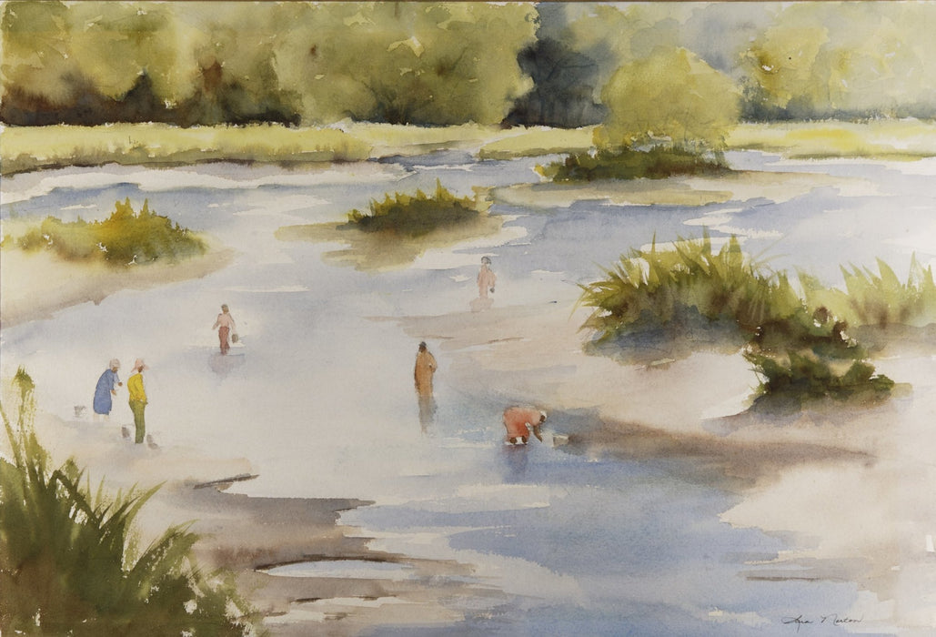 Sara Norton : Marsh Walking-Original Watercolor - N3CreativeShop