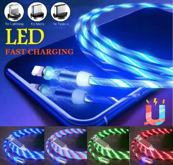 Genie LED Lighting Flowing Magnetic USB Charging Cable - The Genie Tech