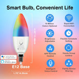 Genie Smart LED Candelabra Bulb E12 (Works with Google Home/Alexa) -  2 Pack - The Genie Tech