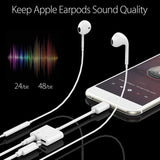 iPhone Adapter [Audio+Charge+Call+Volume Control] Dongle for iPhone 7/8/8/XR/XS etc Support All iOS - The Genie Tech